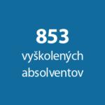 853 vyškolených absolventov